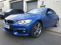 BMW 4 Series 2014 435d M Sport Auto X Drive Blue **Every Optional Extra, SMALL FAULT REPAIRABLE**