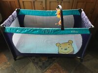 Disney Winnie the Pooh travel cot excellent condition