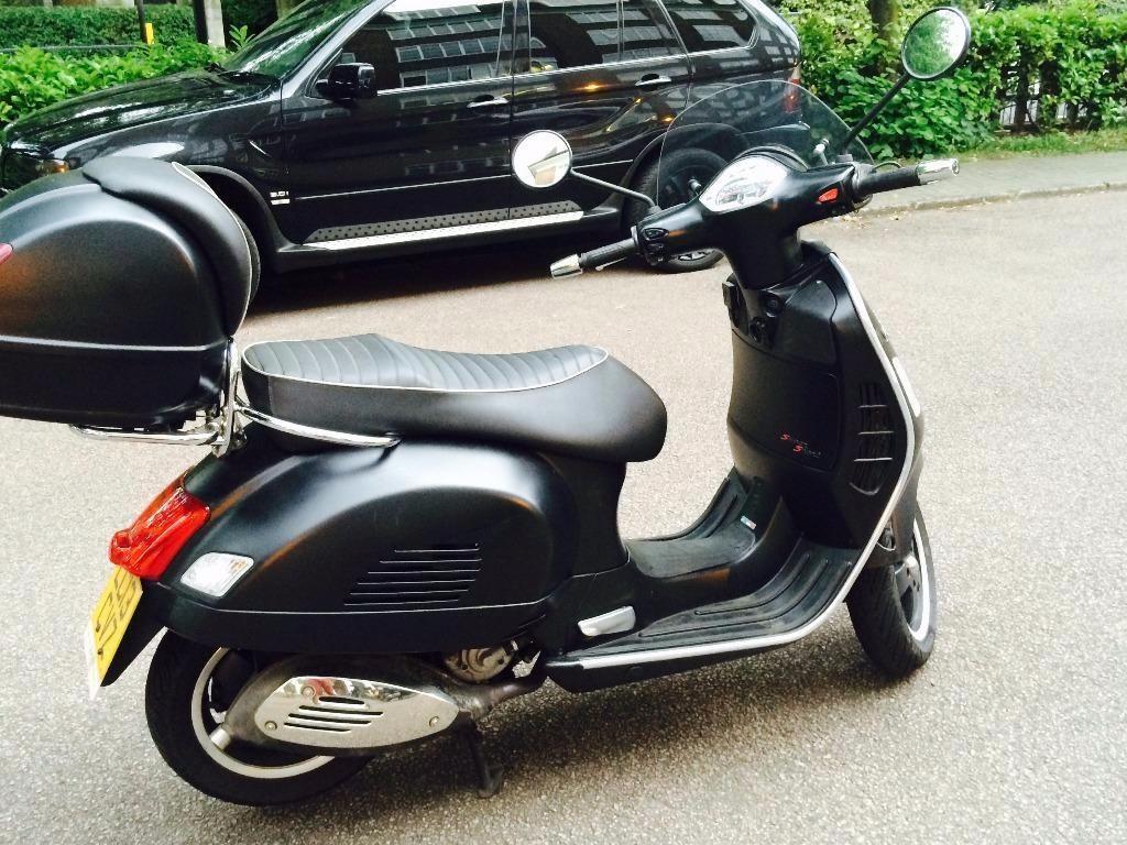 matt black vespa gts 300 cc super sport 2013 in. Black Bedroom Furniture Sets. Home Design Ideas