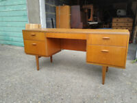 BEITHCRAFT Vintage Desk / Sideboard / Dressing Table with mirror - free delivery available
