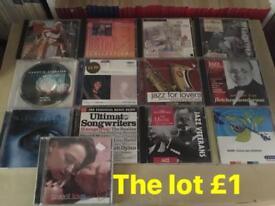 Bundle of cds; jazz, soul, rock