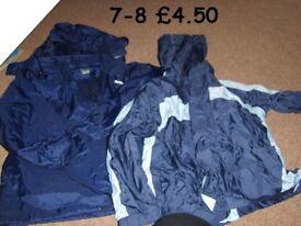 raincoats 7-8 years