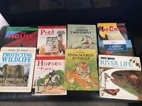 9 animal/wildlife hardback children's books