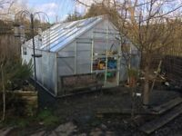 Elite Greenhouse 16' x 12' Toughened Glass Throughout was £2,500 new with Heavy Wooden Base