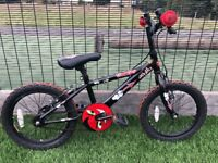 Boys Appolo bike with 16'' in a very good condition comes with a free helmet.