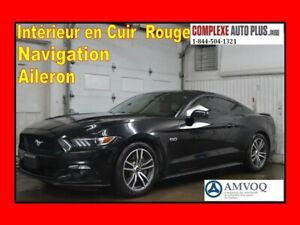 2015 Ford Mustang GT 5.0 V8 Premium *Navi/GPS,Cuir Rouge