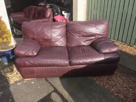 3 seater and 2 seater leather sofa for sale -COLLECTION ONLY