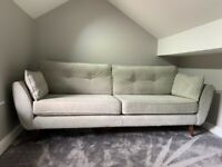 4&3 Seater Grey French Connection Sofa