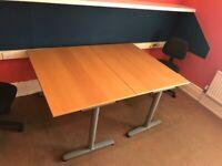 Office desk in light oak