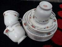 tea cups, saucers, side plates. Modern vintage, wedding, tea party, china crockery mothers day gift