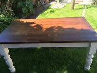 Solid Table Annie Sloan with Oak Top