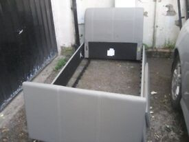 Padded single bed frame new