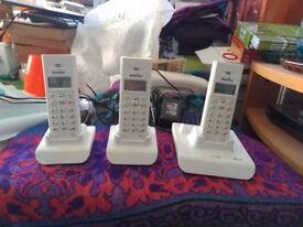 Binatone Style 1210 Cordless Phone With Answering Machine - Trio, White