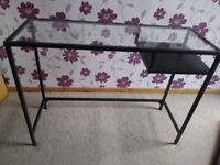 Glass top desk / side table