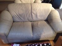 Three Piece Silver/Grey Leather Couch