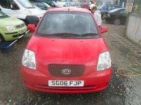 KIA PICANTO 1.0 GS 5dr IN RED 88K MILES, MOT SEPTEMBER 2018 LOW TAX AND INSURANCE CAR (red) 2006