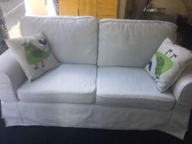Ikea double sofa - light blue - Like brand new!