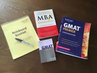 GMAT Kaplan Verbal and Quant Prep Practice Review Course Book with Notepad