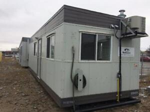 10x32 skid modular building security trailer with extra windows 598423 - ready to go