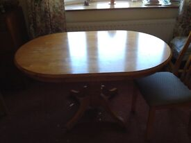 Pine Kitchen Dining table and 4 chairs