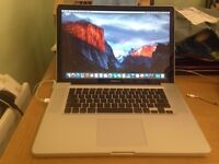 macbook pro 15 inch intel dual core 2.6 8bg ram 320gb hardrive