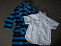 Boys Dressing Gown+NEXT shirt Age 5-6 Years