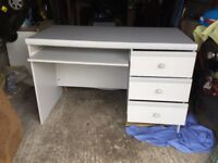 Desk with pull out shelf