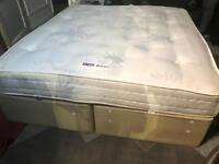 SUPER KING SIZE BED + BENSONS BED MATTRESS NICE