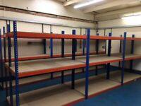 JOB LOT 10 bays RAPID 1 industrial longspan shelving 2.1 high. ( storage , pallet racking )