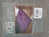 Large 150x210cm purple rug