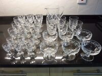 31 piece Waterford Crystal glass set. Excellent condition