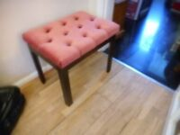 vintage pink dressing table stool