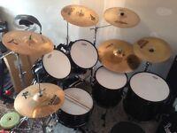 Pearl EX Export 6-Piece Drum Kit & Zildjian/Sabian Cymbals
