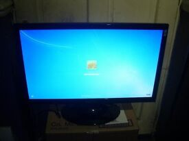 HANNSPREE HF237 23'' LCD HDMI VGA 1680x1050 WITH STAND GOOD WORKING ORDER