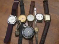 Eight watches ladies and gents.