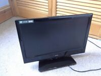 """18.5"""" Alba flat screen TV, HD. with DVD and Free View."""