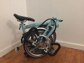 Brand New: P3R Foldable Brompton Bike in Turkish Green
