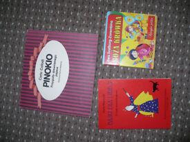 Bundle of 29 vintage Polish books for kids. Stickers, crafts... Polskie ksiazki dla dzieci.