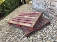 Two wooden pallets, ideal for shabby chic garden project