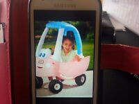 Childs blue and pink car in EXECELLENT condition