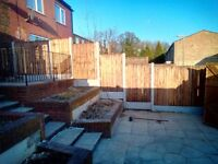 Fence Supply and Fitting. Close Board Fence Panel, Turf, Decking, Patio and Slabs