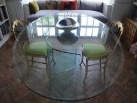 Glass Oval Dining Table