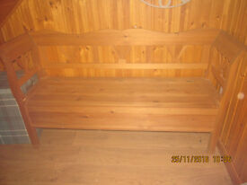 solid wood monks bench with storage