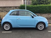 Fiat 500 Lounge 1.2, 2014 (64), Low mileage, Azzuro Blue, great conditions, still within warranty