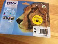 Epson Original T0715 4-Cartridge Multipack (Cyan T0712, Magenta T0713, Yellow T0714 and Black T0711)