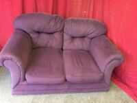 PURPLE FABRIC 2 SEATER SOFA,CAN DELIVER