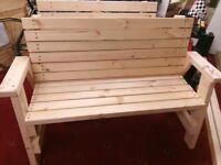 NEW Handmade Garden Benches. £89.00 each.