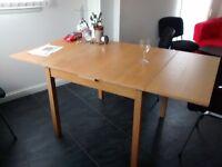 IKEA extendable dining table £30 ono, IKEA bookcase £20