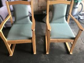 Green Reception/ Dining Room Chairs
