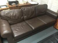 Brown leather 3 seater sofa FREE DELIVERY WITHIN 10 MILE